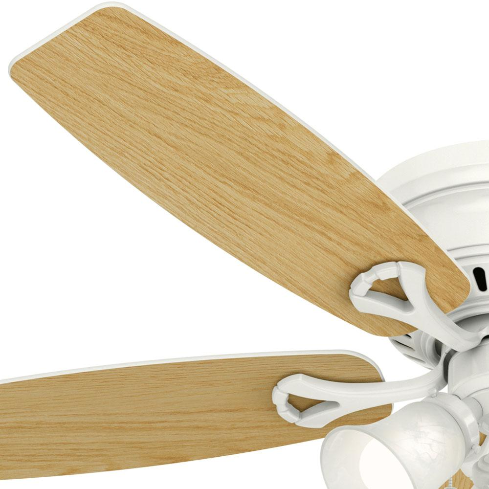 "Modern 3-Blade 52"" Chrome Finish Ceiling Fan with Silver Bla"