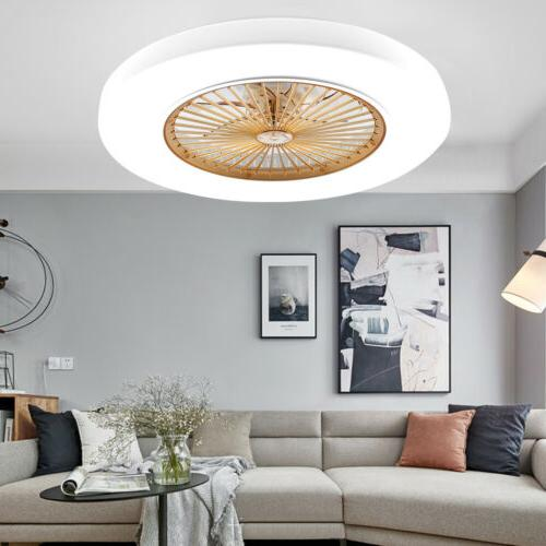 22.6 Inch Modern Ceiling fans LED Light Chandelier 3 Color/S