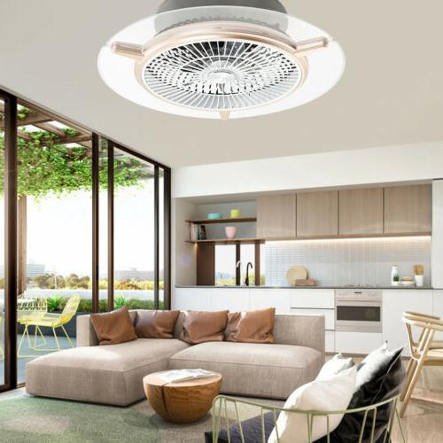 3 Macarons Ceiling fans LED Chandelier Fan Dimmable Remote