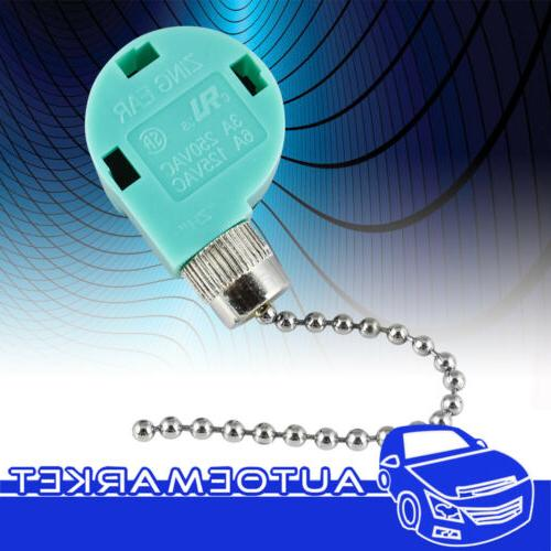 4 Wire Pull Chain Switch Nickel Santa Ceiling