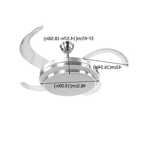 Light Blades Chandelier Dimmable + Remote
