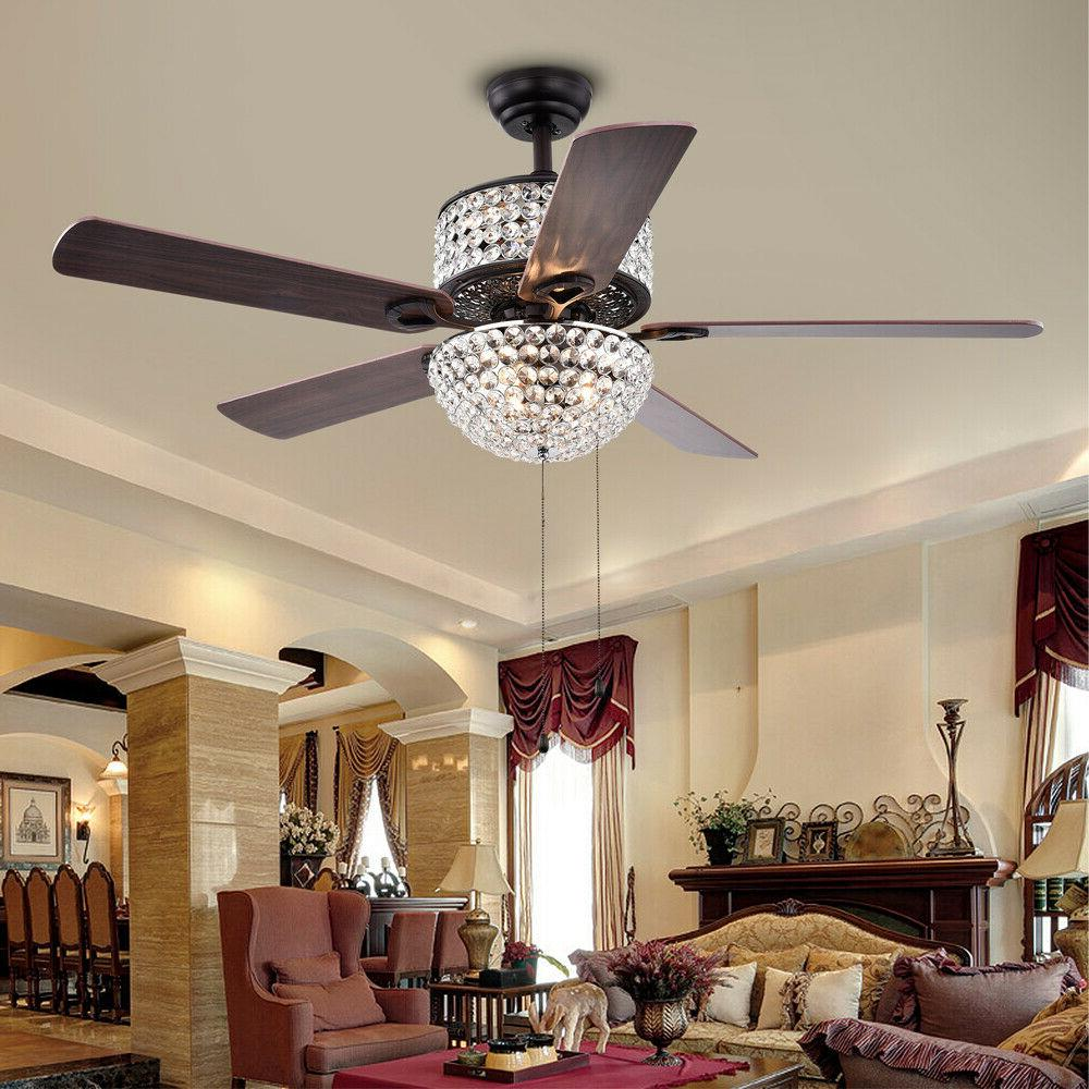 "42"" Ceiling with Light Dimmable Chandelier Blades"