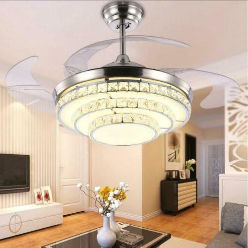 """42""""Modern Remote Invisible LED Crystal Ceiling"""