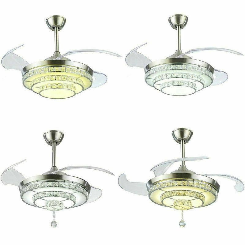 42 crystal chandelier led light invisible ceiling