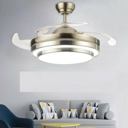42 fan ceiling light modern invisible dining