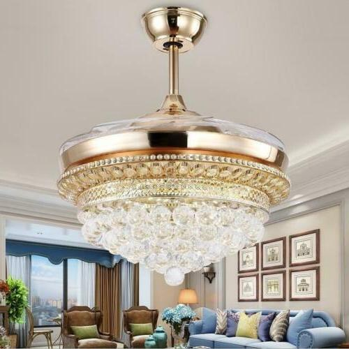 42 k9 crystal invisible ceiling fans