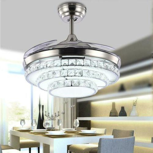 42 modern remote invisible blades led chandelier