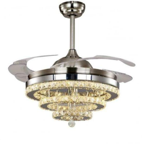 """42"""" Remote Retractable Crystal Ceiling Light"""