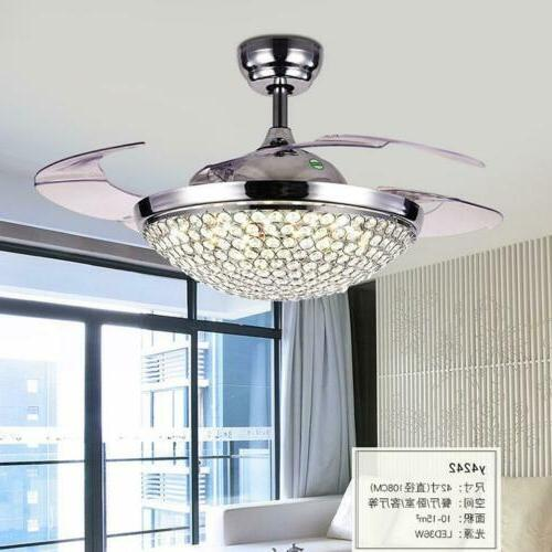 "42"" Retractable Fans with Modern Remote Chandelier"
