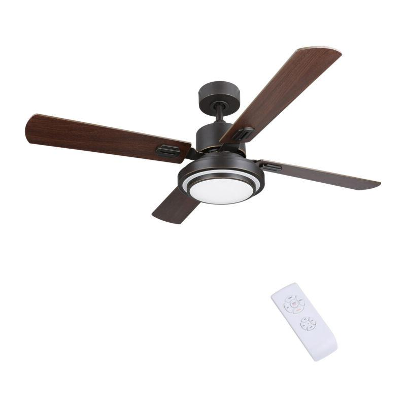 "52"" Indoor Ceiling Fan LED Remote Control 3 4 6"