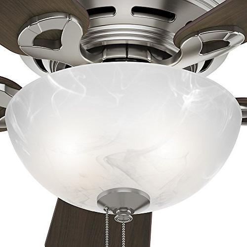 "Hunter 52139 Hunter Haskell Ceiling with 42"", Brushed"