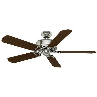 "Casablanca 54"" Panama Brushed Nickel Walnut Fan"