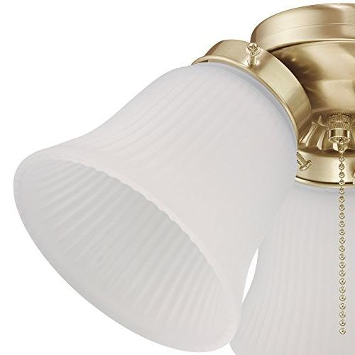 Westinghouse Lighting LED Ceiling Fan Light Kit, Brass Finish with Frosted Glass