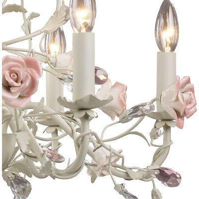 ELK Lighting 6 22 Cream Chandelier Ceiling