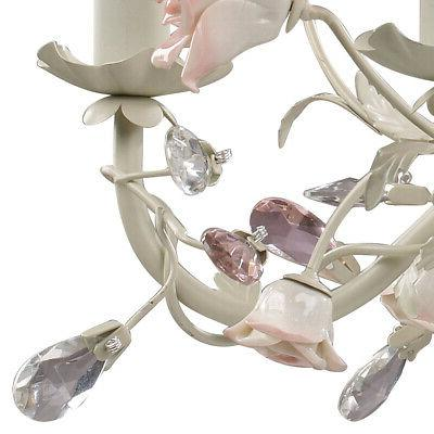 ELK Lighting 6 Light 22 inch Cream Chandelier Ceiling