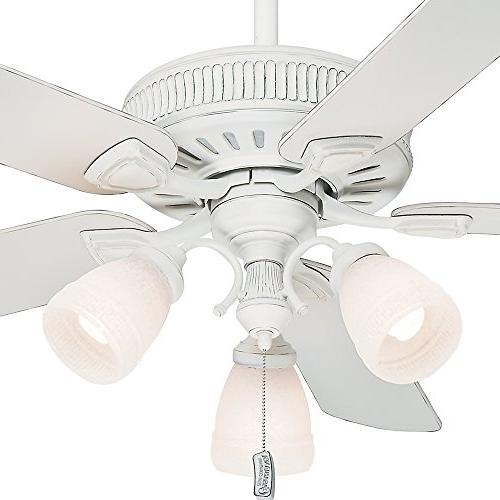 Casablanca Ainsworth 54-Inch 5-Blade Fan, Cottage with Cottage White Blades Frosted Globes