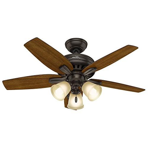 "Hunter Ceiling Fan, 42""/Small, Premier Bronze"
