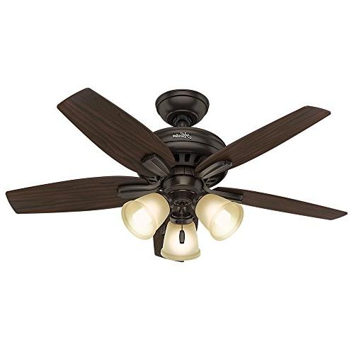 "Hunter Fan Company 51084 Ceiling Fan, 42""/Small, Premier Bro"