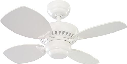 Monte Carlo 4CO28WH Colony II 28 in. Indoor Ceiling Fan - Wh
