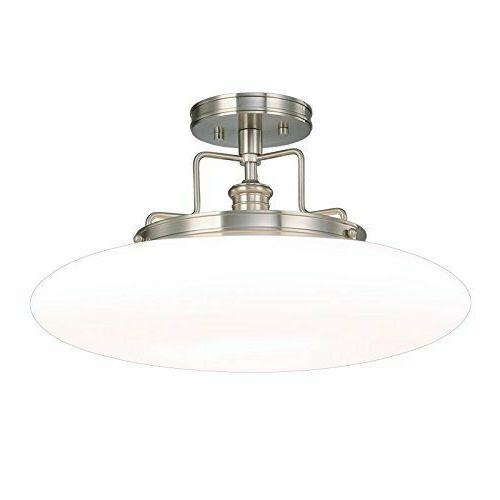 beacon 1 light semi flush polished nickel