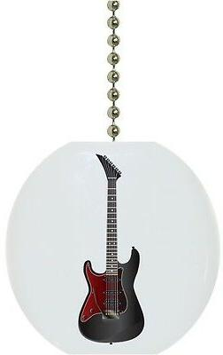 black and red guitar solid ceramic ceiling