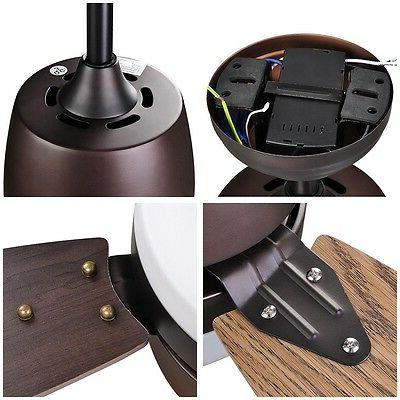 Bronze Fan 3 Maple Blade Dimmable LED & Control Home Decoration 42/52 Opt