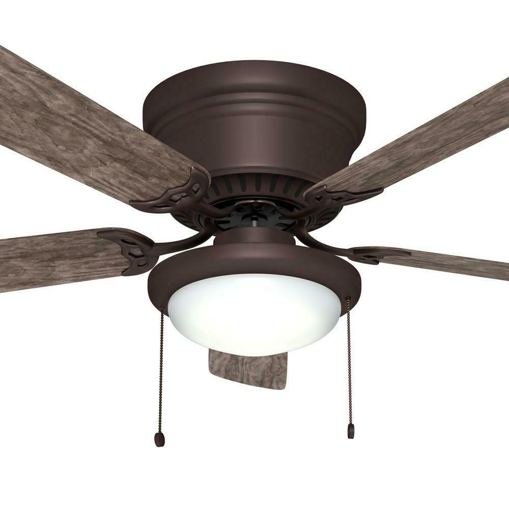 Hugger 52 in. Ceiling Fan with LED Light Espresso Bronze Low