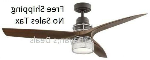 ceiling fan 54 inch satin natural bronze