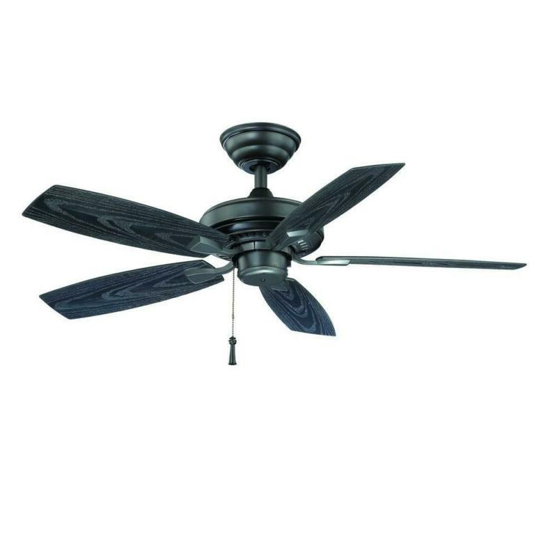 natural iron ceiling fan with downroad light