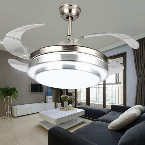 Crystal LED Ceiling Fan Lamp Remote