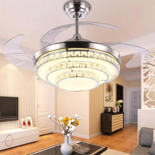 Crystal Chandelier Ceiling Lamp w/