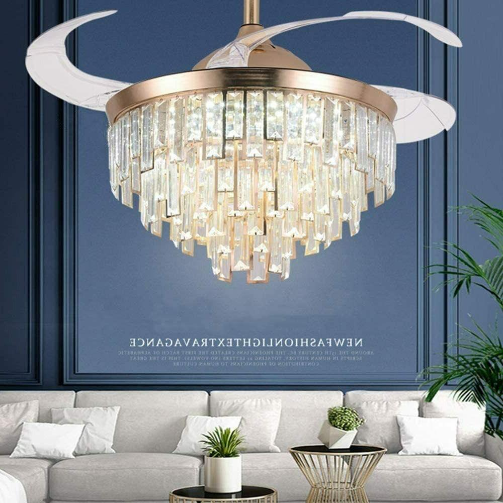 Crystal Ceiling Fans with Light