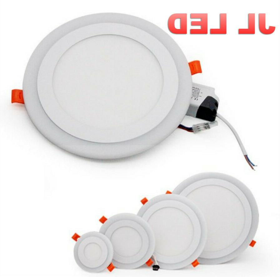 Dual Color White LED Recessed USA SELLER