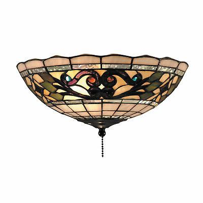 elk 990 d tiffany buckingham 2 light fan kit ceiling mount 4