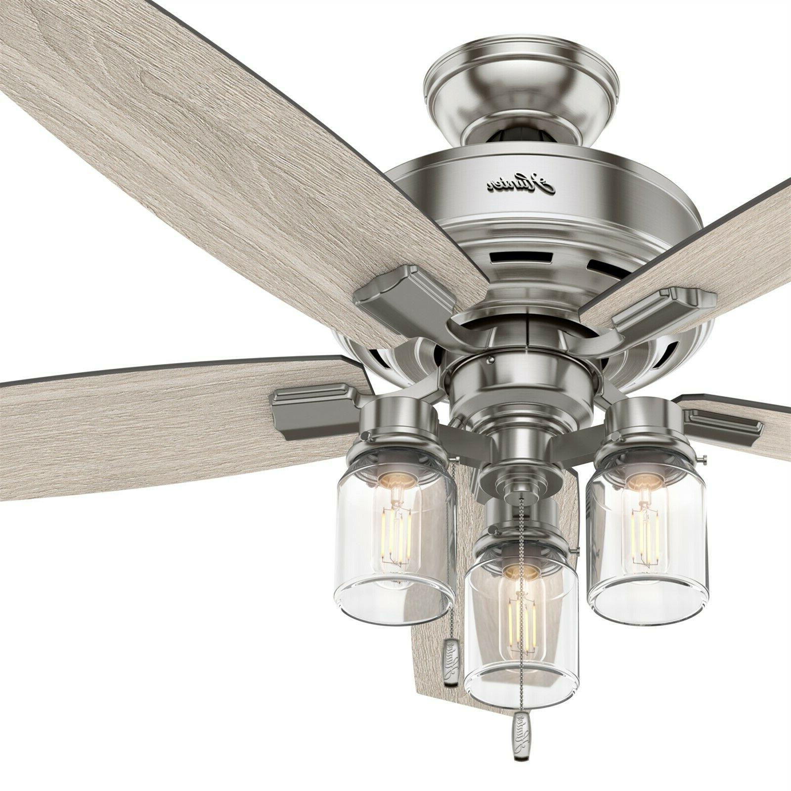 fan 52 inch brushed nickel ceiling fan