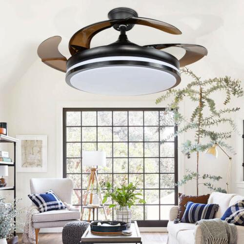 Multi-function Ceiling Fan Bluetooth Speaker Dimmable LED Li