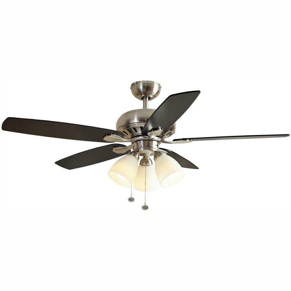 parts rockport ceiling fan brushed nickel finish