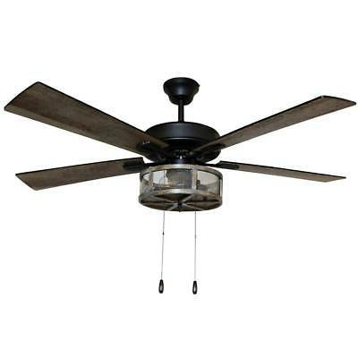 River Goods Prairie 52 in. LED Rubbed Bronze Fan With