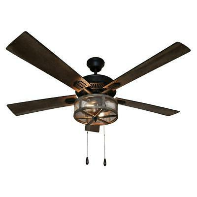 River of Goods 52 in. LED Rubbed Caged Ceiling Fan