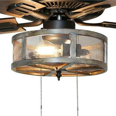 River Goods 52 Rubbed Caged Fan Light