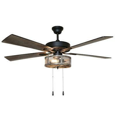 River 52 LED Rubbed Fan With