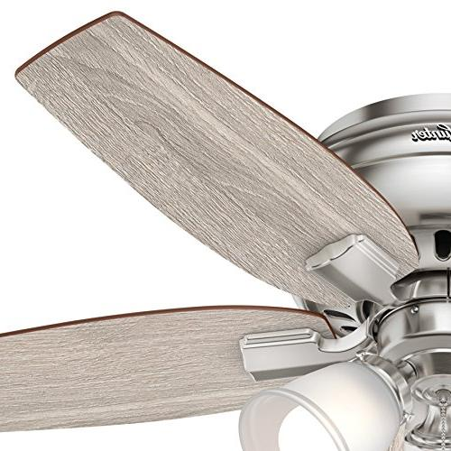 Hunter 42 Profile Ceiling Fan with LED in Brushed Nickel