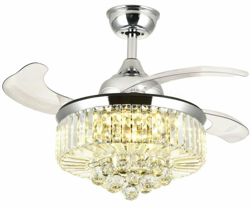 7PM Retractable Fans 36 Inch Invisible Chandelier with