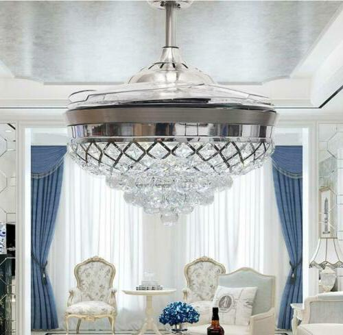 """Silver 42"""" Ceiling Crystal Chandelier Fixtures"""