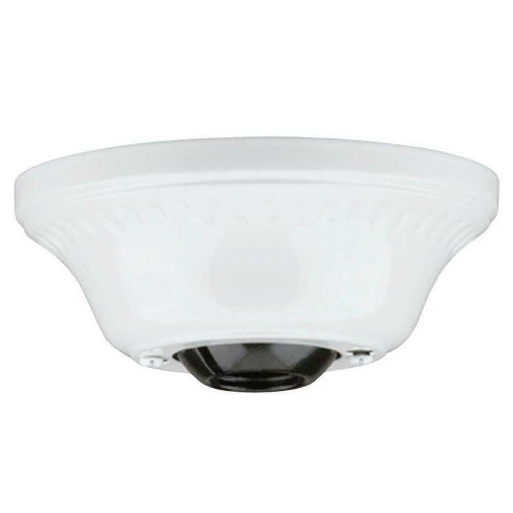 white cathedral ceiling fan canopy mounting kit