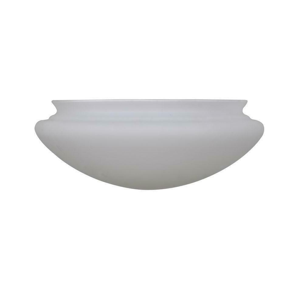 White Fan Glass 24 in. Frosted Light Covers