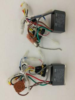 Lot of 2x Ceiling Fan NEW Part - Wiring Harness 3-Speed, Cap