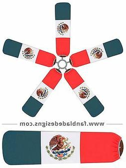 Mexican Flag Ceiling Fan Blade Covers