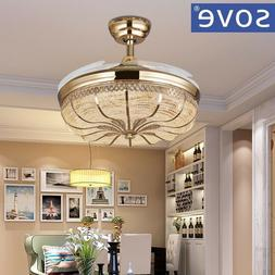 Modern Ceiling Fans With Lights Remote Control Folding Ceili