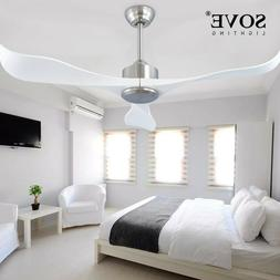 Sove Modern Ceiling Fans Without Light Remote Control White